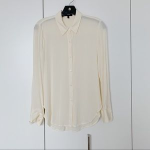 Theory Slim-fit Silk Shirt